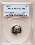 Proof Roosevelt Dimes: , 1985-S 10C PR69 Deep Cameo PCGS. PCGS Population (2573/113). NGCCensus: (405/62). Numismedia Wsl. Price for problem free ...