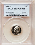 Proof Roosevelt Dimes: , 1985-S 10C PR69 Deep Cameo PCGS. PCGS Population (2572/113). NGCCensus: (400/61). Numismedia Wsl. Price for problem free ...