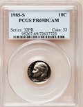 Proof Roosevelt Dimes: , 1985-S 10C PR69 Deep Cameo PCGS. PCGS Population (2572/113). NGCCensus: (405/61). Numismedia Wsl. Price for problem free ...