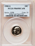Proof Roosevelt Dimes: , 1985-S 10C PR69 Deep Cameo PCGS. PCGS Population (2573/113). NGCCensus: (407/62). Numismedia Wsl. Price for problem free ...