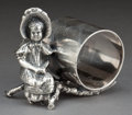 Silver Holloware, American:Napkin Rings, AN AMERICAN SILVER-PLATED FIGURAL NAPKIN RING . Attributed to DerbySilver Co., Derby (Birmingham), Connecticut, circa 1875...