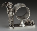Silver Holloware, American:Napkin Rings, A TUFTS SILVER-PLATED FIGURAL NAPKIN RING . James W. Tufts, Boston,Massachusetts, circa 1875. Marks: JAS. W. TUFTS, BOSTO...