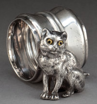 AN AMERICAN SILVER-PLATED FIGURAL NAPKIN RING Attributed to Rogers & Bro., Waterbury, Connecticut, circa 1875