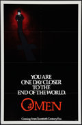 """Movie Posters:Horror, The Omen (20th Century Fox, 1976). One Sheet (27"""" X 41"""") Advance & Photos (2) (8"""" X 10""""). Horror.. ... (Total: 3 Items)"""