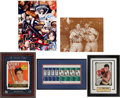 Miscellaneous Collectibles:General, Sports Legends Signed Memorabilia Lot of 5....