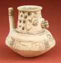 American Indian Art:Pottery, Huastec Tea Pot with Deity...