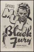 "Movie Posters:Crime, Black Fury (Dominant, R-1956). One Sheet (27"" X 41""). Crime.. ..."