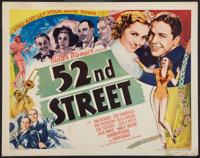 "52nd Street (United Artists, 1937). Half Sheet (22"" X 28""). Musical"