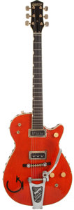 Musical Instruments:Electric Guitars, 1955 Gretsch Roundup 6130 Orange Solid Body Electric Guitar, #13997....