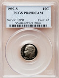 Proof Roosevelt Dimes: , 1997-S 10C Clad PR69 Deep Cameo PCGS. PCGS Population (1960/131).NGC Census: (107/182). Numismedia Wsl. Price for problem...