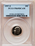 Proof Roosevelt Dimes: , 1997-S 10C Clad PR69 Deep Cameo PCGS. PCGS Population (1959/131).NGC Census: (107/182). Numismedia Wsl. Price for problem...