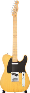 Musical Instruments:Electric Guitars, 2008 Fender American Telecaster Butterscotch Solid Body ElectricGuitar, #DZ8013573....