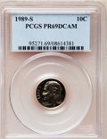 Proof Roosevelt Dimes: , 1989-S 10C PR69 Deep Cameo PCGS. PCGS Population (2107/121). NGCCensus: (263/61). Numismedia Wsl. Price for problem free ...