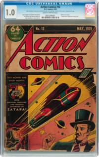 Action Comics #12 (DC, 1939) CGC FR 1.0 Slightly brittle pages