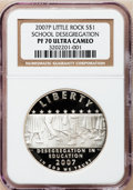 Modern Issues, 2007-P $1 Little Rock PR70 Ultra Cameo NGC. NGC Census: (1445).PCGS Population (257). Numismedia Wsl. Price for problem f...