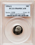 Proof Roosevelt Dimes: , 1994-S 10C Clad PR69 Deep Cameo PCGS. PCGS Population (2070/205).Numismedia Wsl. Price for problem fre...