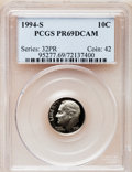 Proof Roosevelt Dimes: , 1994-S 10C Clad PR69 Deep Cameo PCGS. PCGS Population (2070/205).Numismedia Wsl. Price for problem fr...