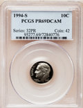 Proof Roosevelt Dimes: , 1994-S 10C Clad PR69 Deep Cameo PCGS. PCGS Population (2123/227).NGC Census: (212/199). Numismedia Wsl. Price for problem...