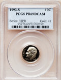 Proof Roosevelt Dimes: , 1993-S 10C Clad PR69 Deep Cameo PCGS. PCGS Population (2100/195).Numismedia Wsl. Price for problem fre...