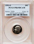 Proof Roosevelt Dimes: , 1993-S 10C Clad PR69 Deep Cameo PCGS. PCGS Population (2162/220).NGC Census: (264/219). Numismedia Wsl. Price for problem...