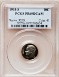 Proof Roosevelt Dimes: , 1993-S 10C Clad PR69 Deep Cameo PCGS. PCGS Population (2166/220).NGC Census: (264/219). Numismedia Wsl. Price for problem...