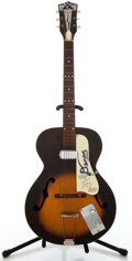 Musical Instruments:Electric Guitars, 1960's Kay N1 Sunburst Archtop Electric Guitar #L1510...