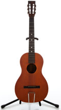 Musical Instruments:Acoustic Guitars, 1900's Beckerd Parlor Natural Acoustic Guitar ...