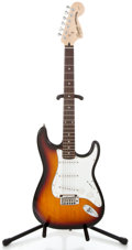Musical Instruments:Electric Guitars, 2002 Fender Squire Stratocaster Sunburst Solid Body Electric Guitar#020922873...