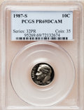 Proof Roosevelt Dimes: , 1987-S 10C PR69 Deep Cameo PCGS. PCGS Population (2734/119). NGCCensus: (371/108). Numismedia Wsl. Price for problem free...