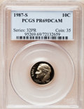 Proof Roosevelt Dimes: , 1987-S 10C PR69 Deep Cameo PCGS. PCGS Population (2728/116). NGCCensus: (369/108). Numismedia Wsl. Price for problem fre...