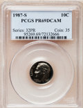 Proof Roosevelt Dimes: , 1987-S 10C PR69 Deep Cameo PCGS. PCGS Population (2695/114). NGCCensus: (369/108). Numismedia Wsl. Price for problem free...