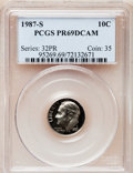 Proof Roosevelt Dimes: , 1987-S 10C PR69 Deep Cameo PCGS. PCGS Population (2728/116). NGCCensus: (369/108). Numismedia Wsl. Price for problem free...