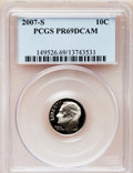 Proof Roosevelt Dimes, 2007-S 10C Clad PR69 Deep Cameo PCGS. PCGS Population (1566/291).Numismedia Wsl. Price for problem fre...