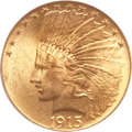Indian Eagles, 1915 $10 MS64+ PCGS. CAC....