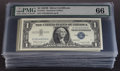 Small Size:Silver Certificates, Fr. 1621 $1 1957B Silver Certificates. Seventy-six Examples. PMG Gem Uncirculated 66.. ... (Total: 76 notes)