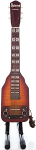 Musical Instruments:Lap Steel Guitars, 1940's Sherwood Deluxe Sunburst Lap Steel Guitar ...