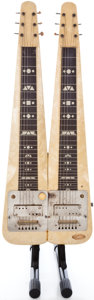 Musical Instruments:Lap Steel Guitars, 1947 Supro Double Six White Pearloid Lap Steel Guitar #X7141...