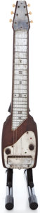 Musical Instruments:Lap Steel Guitars, 1940's Fender Organ Button Brown Lap Steel Guitar Project...