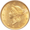 Gold Dollars, 1850-O G$1 MS63 PCGS. Variety 1....