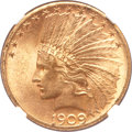 Indian Eagles, 1909-S $10 MS62 NGC....