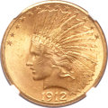 Indian Eagles, 1912-S $10 MS63+ NGC....