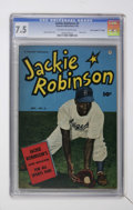 """Golden Age (1938-1955):Miscellaneous, Jackie Robinson #3 Davis Crippen (""""D"""" Copy) pedigree (Fawcett, 1950) CGC VF- 7.5 Off-white to white pages...."""
