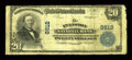 National Bank Notes:Wyoming, Evanston, WY - $20 1902 Plain Back Fr. 652 The Evanston NB Ch. #8612. ...