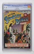 "Golden Age (1938-1955):Miscellaneous, Picture Stories from the Bible New Testament #2 Davis Crippen (""D"" Copy) pedigree (EC, 1946) CGC VF- 7.5 Off-white pages...."