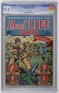 "Golden Age (1938-1955):War, Real Life Comics #20 Davis Crippen (""D"" Copy) pedigree (NedorPublications, 1944) CGC NM- 9.2 Off-white pages...."