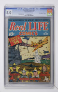 "Golden Age (1938-1955):Non-Fiction, Real Life Comics #24 Davis Crippen (""D"" Copy) pedigree (NedorPublications, 1945) CGC VF 8.0 Off-white to white pages...."