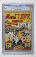 "Golden Age (1938-1955):Non-Fiction, Real Life Comics #27 Davis Crippen (""D"" Copy) pedigree (NedorPublications, 1946) CGC VF 8.0 Off-white to white pages...."