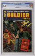 Golden Age (1938-1955):War, Soldier Comics #7 Crowley Copy pedigree (Fawcett, 1953) CGC NM- 9.2Off-white pages....