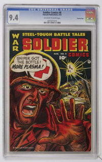 Soldier Comics #8 Crowley Copy pedigree (Fawcett, 1953) CGC NM 9.4 Off-white to white pages