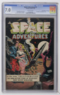 """Golden Age (1938-1955):Science Fiction, Space Adventures #7 Davis Crippen (""""D"""" Copy) pedigree (Charlton,1953) CGC FN/VF 7.0 Off-white pages...."""
